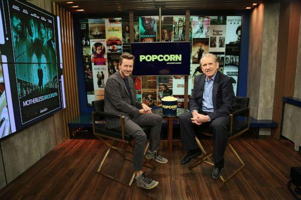 PHOTO: Edward Norton appears on 'Popcorn with Peter Travers' at ABC News studios, November 5, 2019, in New York City. (Angela Williams/ABC News)