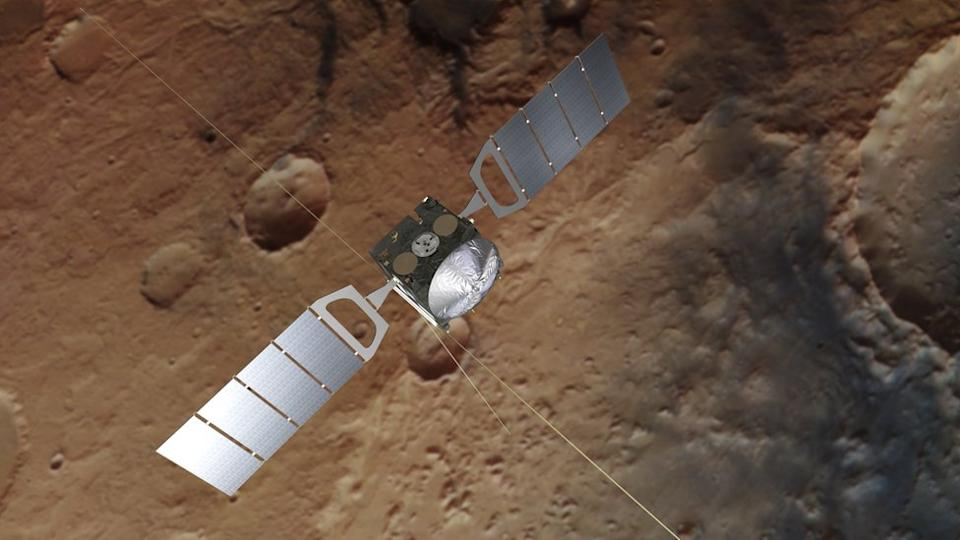The findings come from data collected by Esa's Mars Express spacecraft