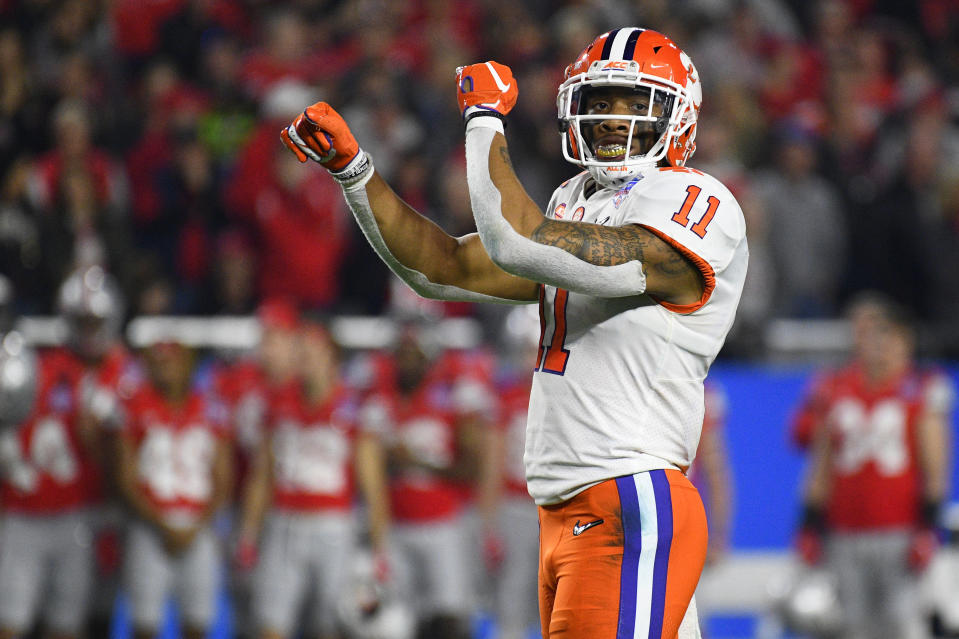 Clemson's Isaiah Simmons has the physical traits and production to make NFL scouts salivate. (Photo by Brian Rothmuller/Icon Sportswire via Getty Images)