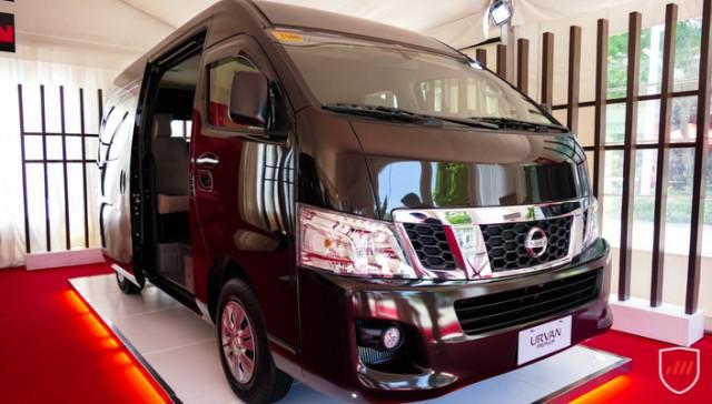 Side view of nissan urvan premium
