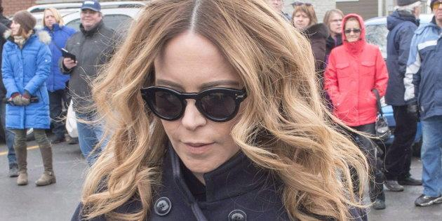 Julie Snyder is seen in Charlemagne, Que. on Jan. 25, 2016, file photo. Snyder has told police that Gilbert Rozon sexually assaulted her, her company said.