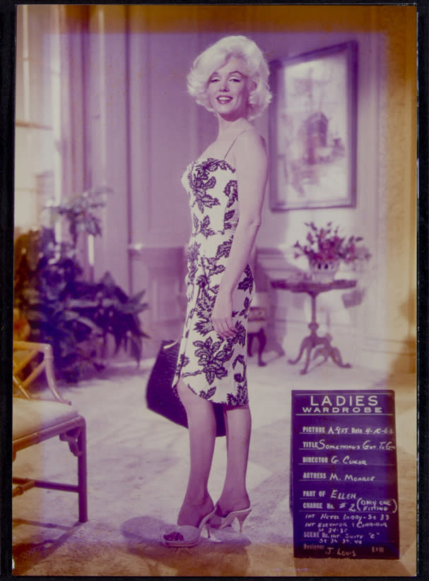 "This image, taken in 1962, shows Marilyn Monroe on the set of ""Something's Got to Give."" This item is part of Julien's Auctions Hollywood Legends being held on Saturday, March 31, 2012 and Sunday April 1 in Beverly Hills, Calif. (AP Photo/Julien's Auctions)"