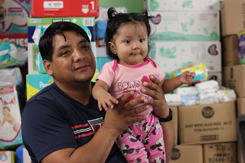Romeo Ramirez's daughter, 9-month-old Elizabeth, was breastfed until her mother was arrested by immigration officials during raids in Mississippi on Aug. 7.