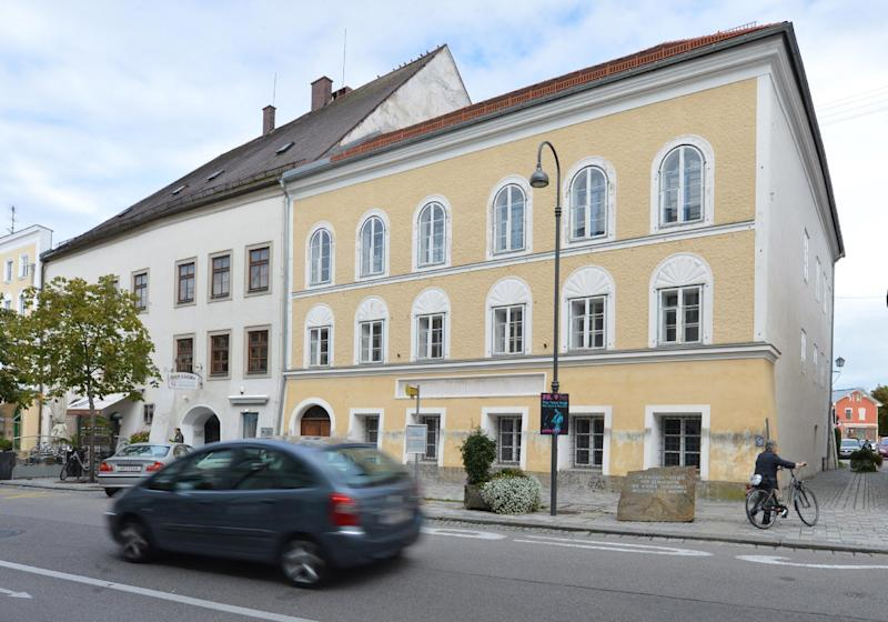 Exterior view of Adolf Hitler's birth house in Braunau am Inn, Austria, Thursday, Sept. 27, 2012. With its thick walls, huge arched doorway and deep-set windows, the 500-year old house near the town square would normally be prime property. Because Hitler was born here, it has become a huge headache for town fathers forced into deciding what to do with a landmark so intimately linked to evil. (AP Photo / Kerstin Joensson)