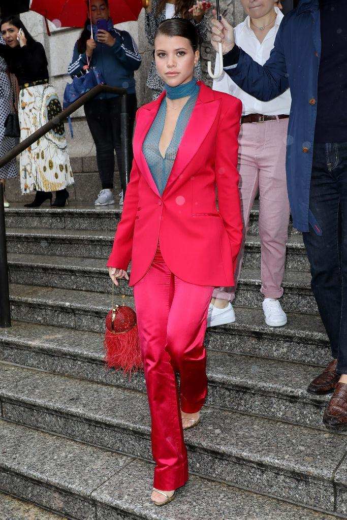 <p>Sofia Richie arrives at the Carolina Herrera Spring 2019 show on September 10, 2018 in New York City. (Photo: Pierre Suu/GC Images) </p>