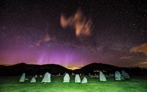 The Lyrid meteor shower over the stone circle at Castlerigg near Keswick in Cumbria - Credit: Stephen Cheatley/Geoff Robinson Photography