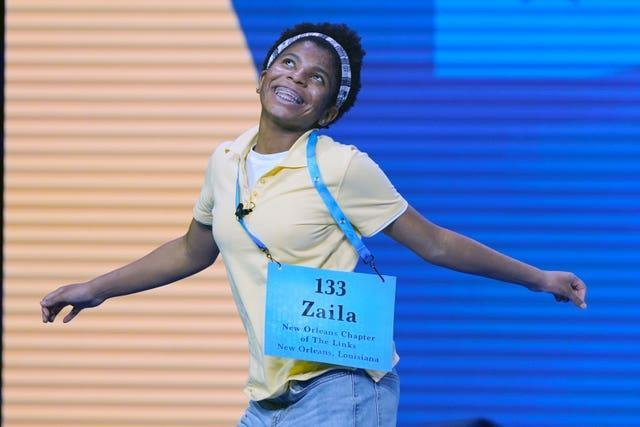 Spelling Bee champion jumps for joy