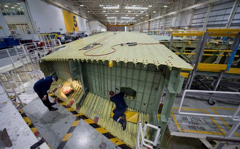 Airbus wing factory - Credit: DAVID ROSE