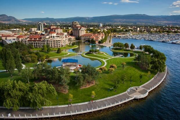 The latest data from Tourism Kelowna indicates a slight increase in overnight travellers but lower hotel occupancy rate in 2020 as compared to 2019. (Shawn Talbot Photography/Tourism Kelowna - image credit)