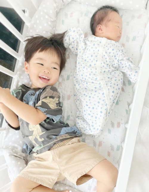 Big brother Jacob with little brother Julius