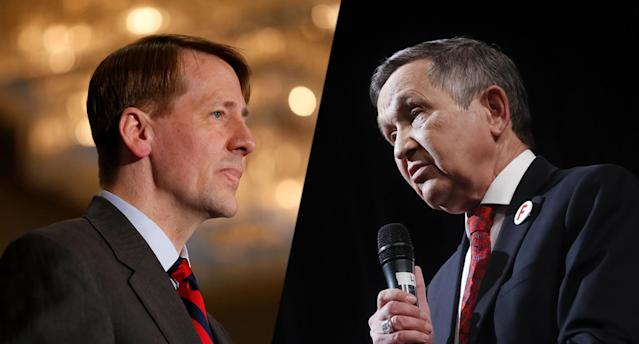 Richard Cordray, Dennis Kucinich. (Photos: Kirk Irwin/Getty Images, John Minchillo/AP)