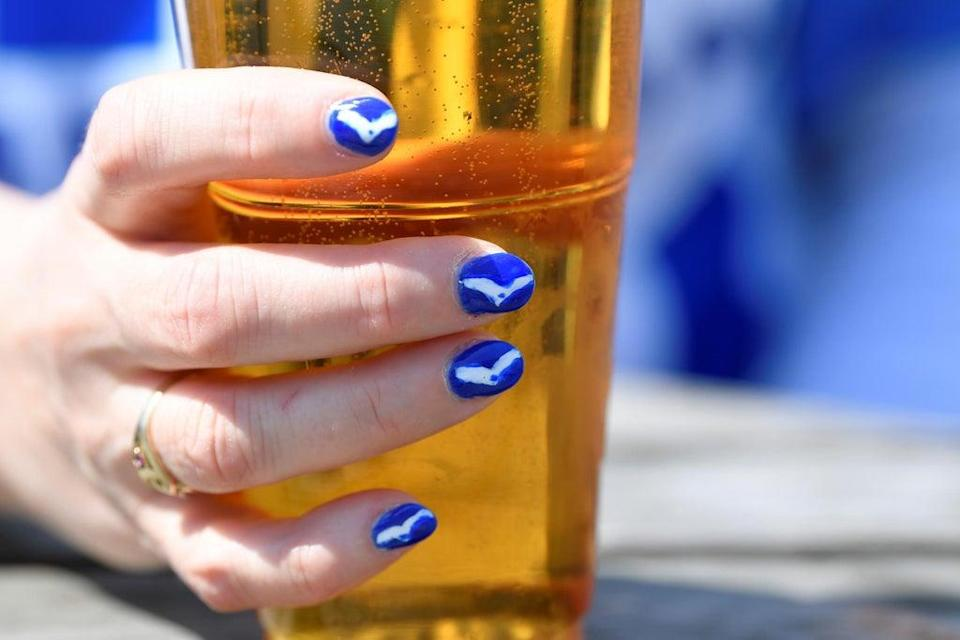A Brighton fan with a beer  (REUTERS)