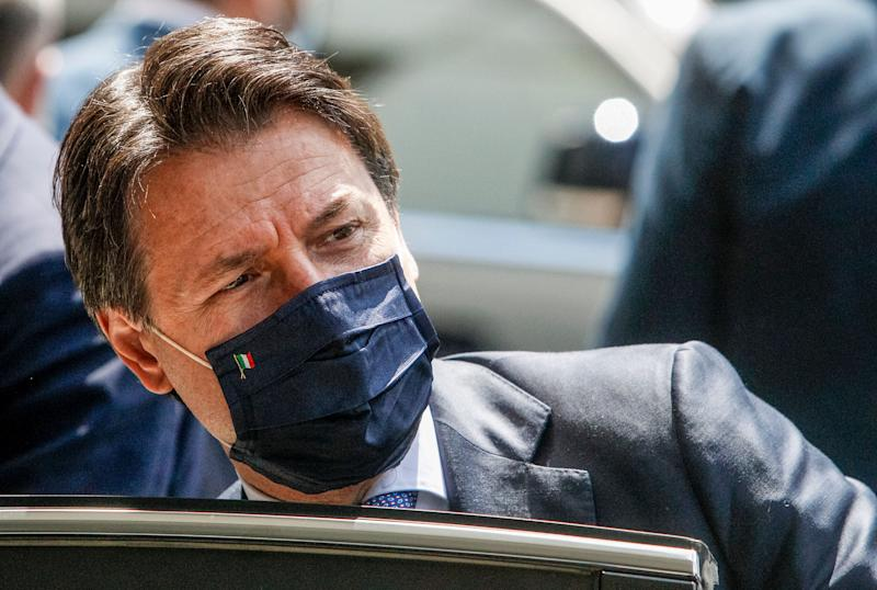 Italy's Premier Giuseppe Conte leaves after attending a thanksgiving ceremony dedicated to physicians and nurses of the Italian Civil Protection in Rome, Monday, June 22, 2020. (AP Photo/Riccardo De Luca) (Photo: ASSOCIATED PRESS)