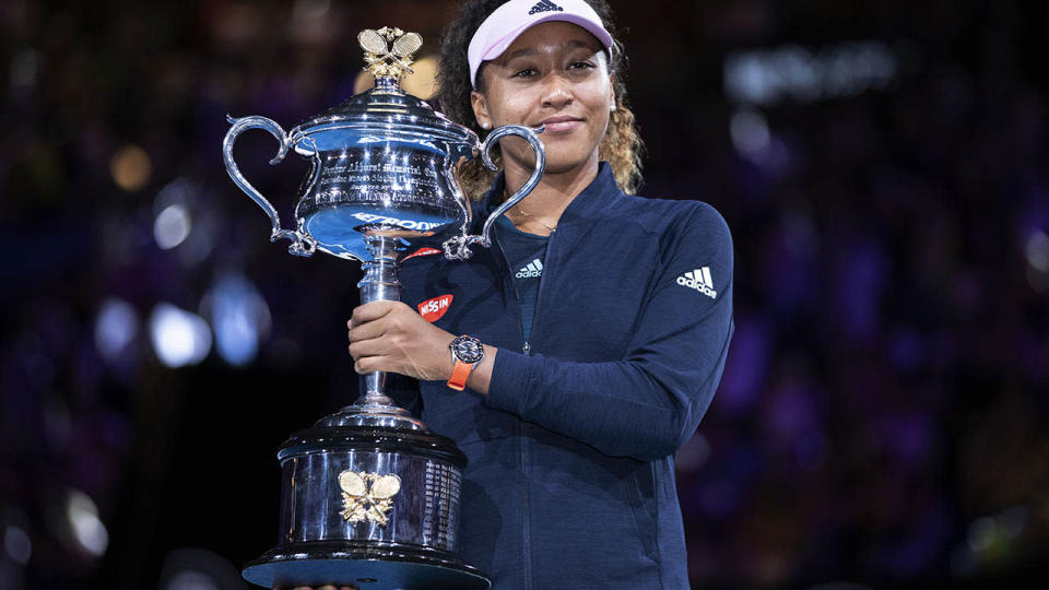Naomi Osaka won the Australian Open in January. (Photo by Fred Lee/Getty Images)