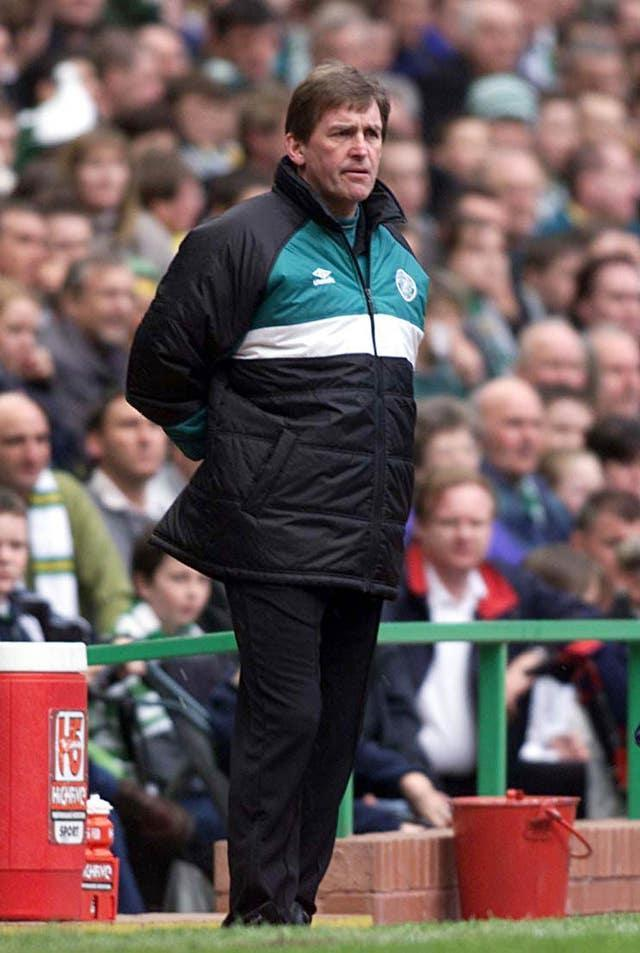 Kenny Dalglish on the touchline at Celtic