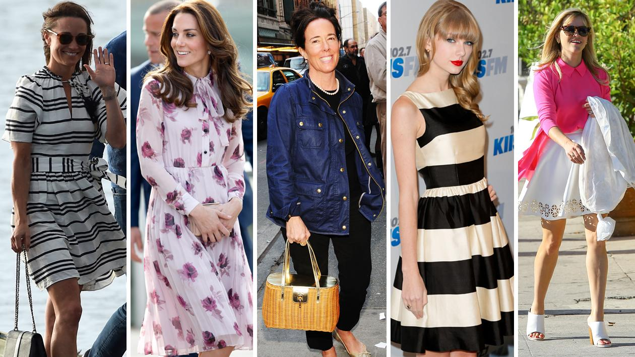 <p>Celebs wearing Kate Spade designs. Source: Getty </p>