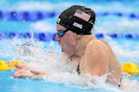 """<p>Biography: 24 years old</p> <p>Event: Women's 100m breaststroke (swimming)</p> <p>Quote: """"[Teammate Jacoby] just had the swim of her life and I'm so proud to be her teammate and win bronze for my country.""""</p>"""