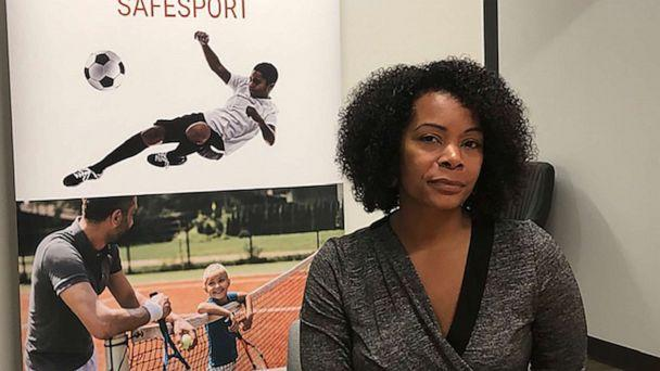 PHOTO: Ju'Riese Colon, the CEO for the U.S. Center for SafeSport, talks about the challenges facing her organization at their headquarters in Denver, Monday, Sept. 16, 2019. (Eddie Pells/AP)