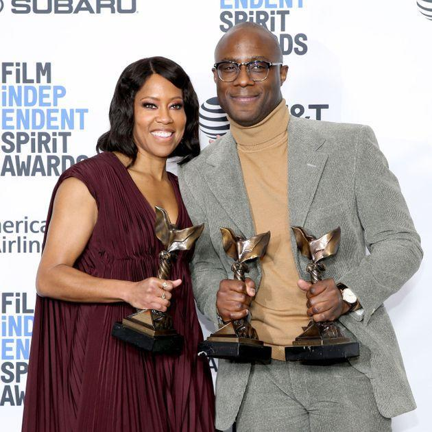 Regina King and Barry Jenkins at the 2019 Film Independent Spirit Awards in Santa Monica, California. (Photo: Phillip Faraone via Getty Images)