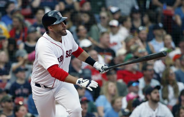 After a tough offseason, J.D. Martinez is thriving with the Red Sox. (AP Photo)