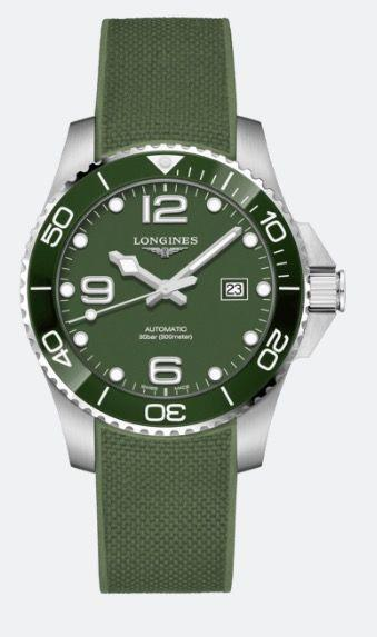 """<p>Hydroconquest (green)</p><p><a class=""""link rapid-noclick-resp"""" href=""""https://www.longines.co.uk"""" rel=""""nofollow noopener"""" target=""""_blank"""" data-ylk=""""slk:SHOP"""">SHOP</a></p><p>In addition to blue, black and grey editions, a green execution joins the line up of Longines' primary modern dive watch collection. Green is a fashionable colour in the watch world for 2020, and this model hits the sweet spot between being military-inspired and stylish. Available in two case sizes, 41mm and 43mm, it is water resistant to 300m. </p><p>£1,230; <a href=""""https://www.longines.co.uk/"""" rel=""""nofollow noopener"""" target=""""_blank"""" data-ylk=""""slk:longines.co.uk"""" class=""""link rapid-noclick-resp"""">longines.co.uk</a></p>"""