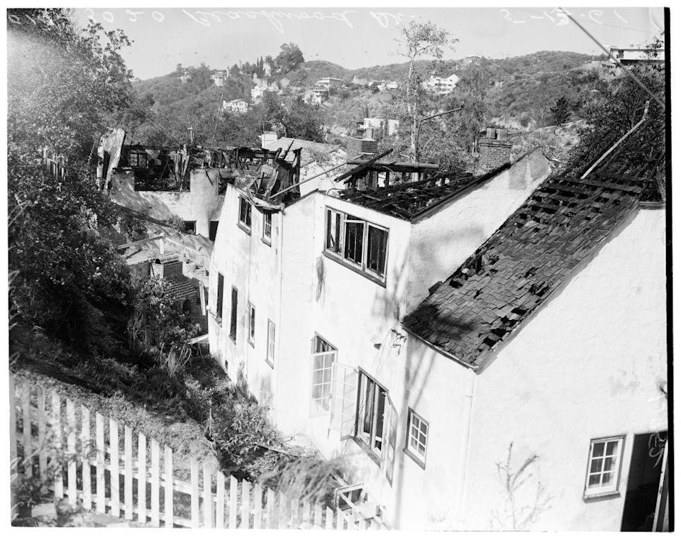 <p>On May 13, 1961, a brush fire devastated several homes in the Hollywood Hills community.</p>
