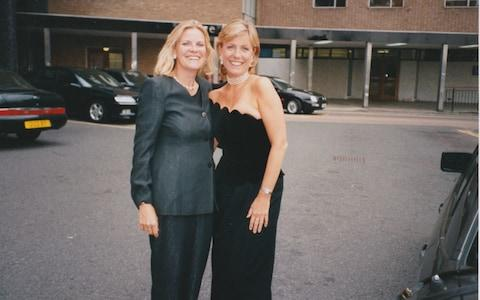 Jill Dando (right) with her cousin Judith - Credit: Judith Dando