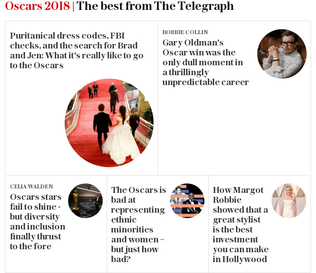 Oscars 2018 | The best from The Telegraph