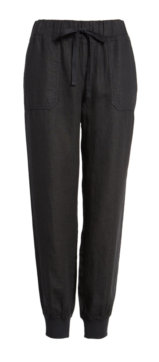 Caslon Linen Jogger Pants in Black