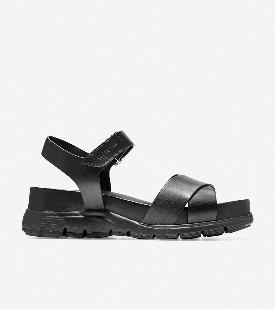 """<h2>Cole Haan</h2><br><strong>Dates: </strong>Now - June 2 <br><strong>Sale: </strong>Up to 50% off summer essentials<br><strong>Promo Code: </strong>None<br><br><em>Shop <strong><a href=""""https://www.colehaan.com/"""" rel=""""nofollow noopener"""" target=""""_blank"""" data-ylk=""""slk:Cole Haan"""" class=""""link rapid-noclick-resp"""">Cole Haan</a></strong></em><br><br><br><strong>Cole Haan</strong> ZERØGRAND Criss Cross Sandal, $, available at <a href=""""https://go.skimresources.com/?id=30283X879131&url=https%3A%2F%2Fwww.colehaan.com%2Fzerogrand-criss-cross-sandal-black-leather%2FW09127.html"""" rel=""""nofollow noopener"""" target=""""_blank"""" data-ylk=""""slk:Cole Haan"""" class=""""link rapid-noclick-resp"""">Cole Haan</a>"""