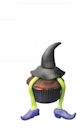 """<p>A fondant Wicked Witch of the East dangles deliciously from her perch: A cupcake topped with chocolate frosting and a dusting of crushed chocolate wafer cookies.</p><p><em><a href=""""https://www.womansday.com/food-recipes/food-drinks/recipes/a11480/wicked-witch-cupcake-recipe-122724/"""" rel=""""nofollow noopener"""" target=""""_blank"""" data-ylk=""""slk:Get the recipe from Woman's Day »"""" class=""""link rapid-noclick-resp"""">Get the recipe from Woman's Day »</a></em></p>"""