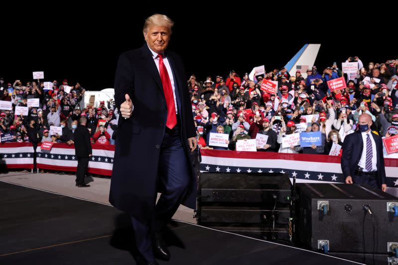 U.S. President Trump holds a campaign rally in Johnstown, Pennsylvania