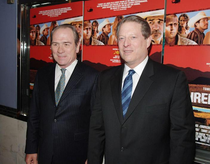 """<p>Future politician and presidential hopeful Al Gore stepped foot on Harvard University's campus fall of 1965, and down the hall of his dorm, a young Tommy Lee Jones had just moved in. The unlikely pair met while at Harvard and even lived together, and their friendship lasted for decades. Jones even supported Gore in 2001 by <a href=""""https://www.c-span.org/video/?c3846242/tommy-lee-jones-nominates-al-gore-81600"""" rel=""""nofollow noopener"""" target=""""_blank"""" data-ylk=""""slk:nominating"""" class=""""link rapid-noclick-resp"""">nominating</a> him at the Democratic National Convention.</p>"""