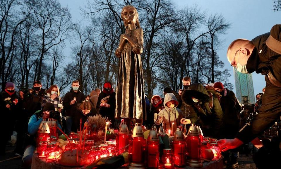 A monument in Kiev to victims of the 1932-33 Ukrainian famine.