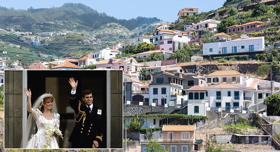 <p>Prince Andrew and Sarah Ferguson headed to the Portuguese islands in 1986 for their low-key honeymoon. <em>[Photo: Getty]</em> </p>