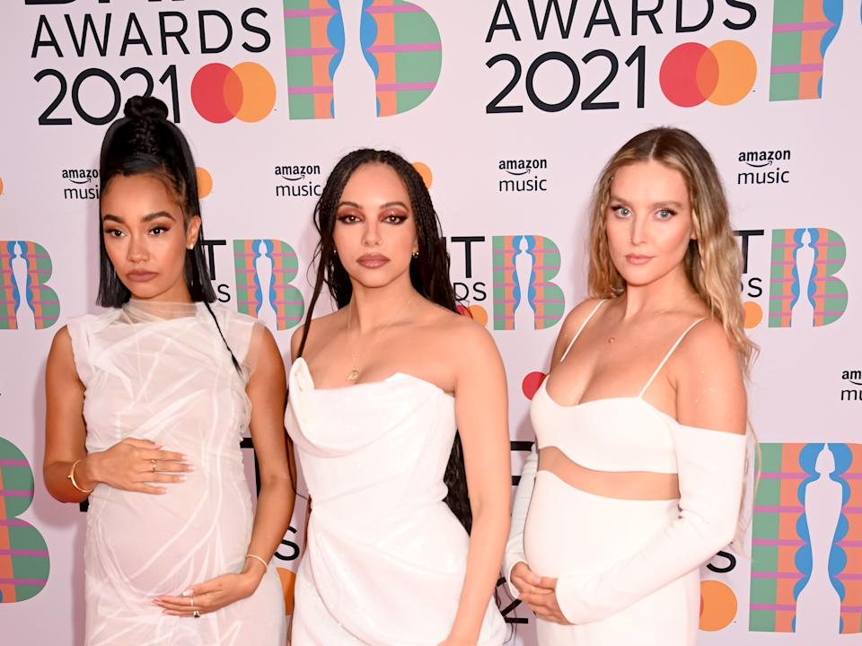 Little Mix's Jade Thirlwall, Perrie Edwards and Leigh-Anne Pinnock were the belles of the 2021 Brit Awards (Getty Images)