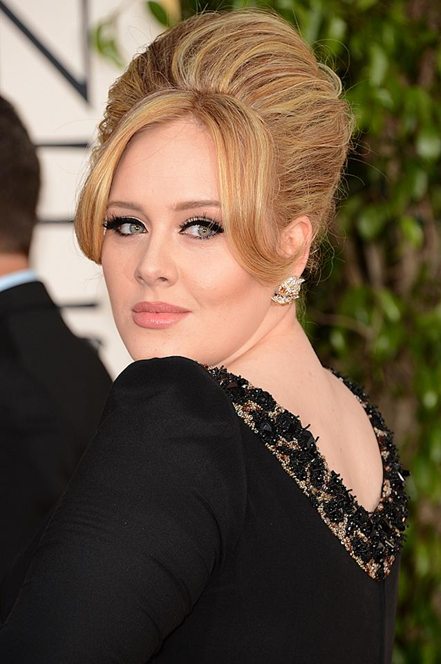 Adele arrives at the 70th Annual Golden Globe Awards at the Beverly Hilton in Beverly Hills, CA on January 13, 2013.