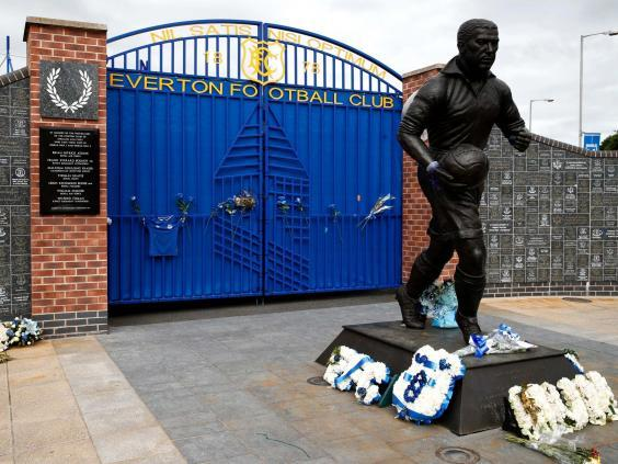 The statue is used as a memorial by Everton supporters (Getty)