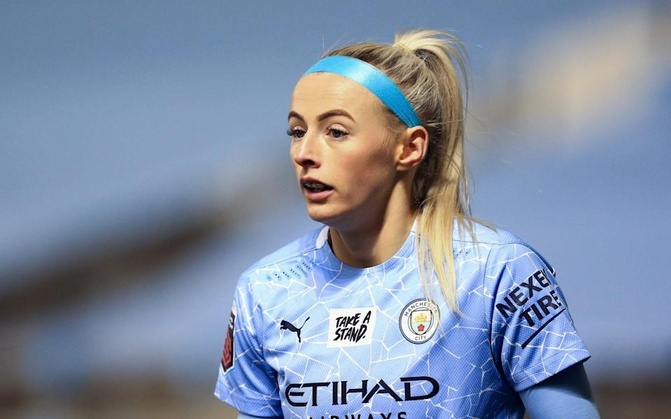 Chloe Kelly of Manchester City during the Barclays FA Women's Super League match between Manchester City Women  - Getty Images