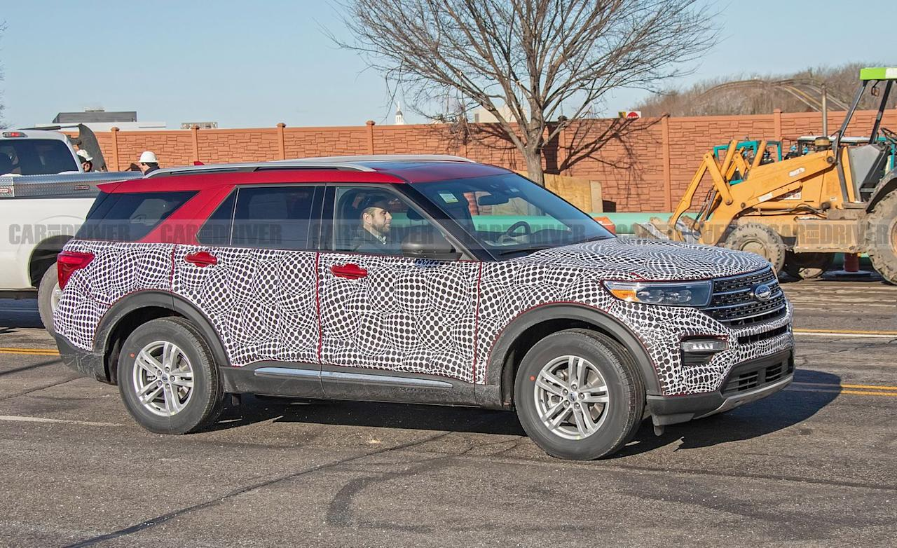 <p>The greater amount of space between the dashboard and the front axle is the first clue of the Explorer's new underpinnings. Its proportions also look lower and wider than before.</p>