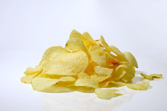 <p>The high calorie count, sodium content and fat in this crunchy snack can really bog you down, not to mention the fact that they are typically void of fiber and protein.</p>