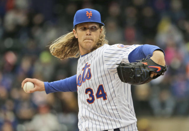 Noah Syndergaard and the Mets look unstoppable right now. (AP Photo)
