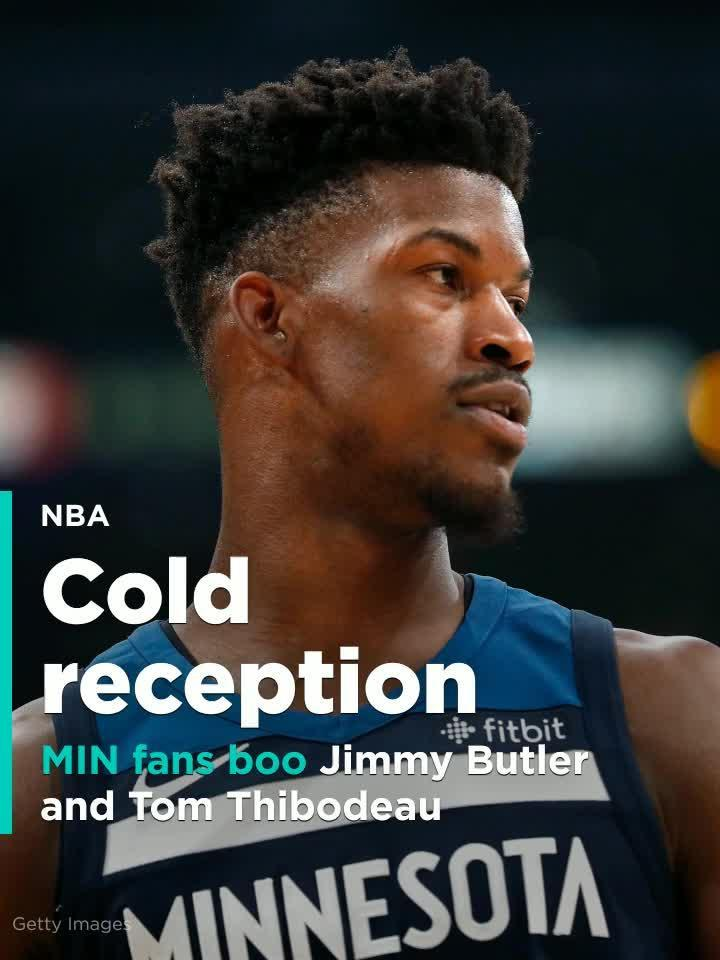 ed732ad028e5 Timberwolves fans boo Jimmy Butler and Tom Thibodeau during home opener   Video