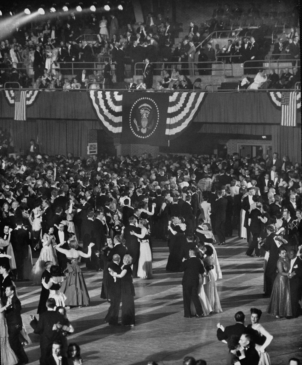 <p>When Truman celebrated his second term in 1949, the President went all out for his inaugural ball. The event ended up breaking records for its expensive bill.</p>