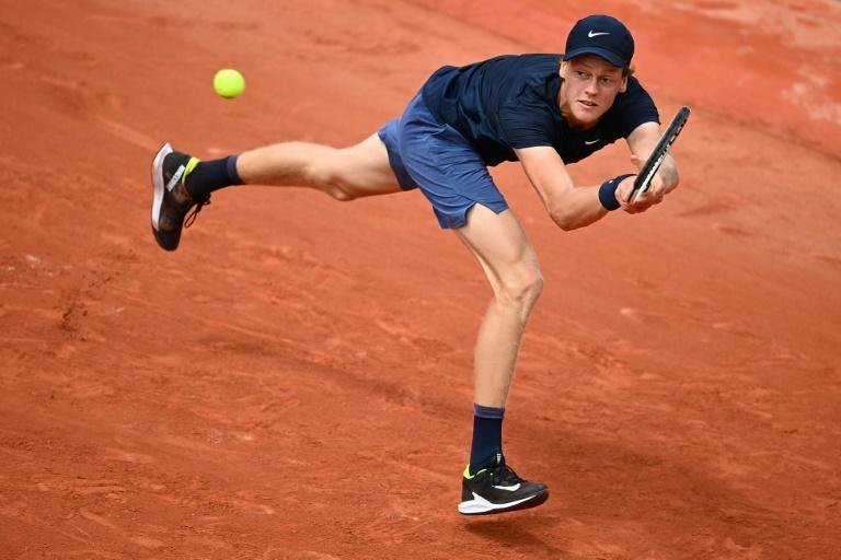 Italy's Jannik Sinner has reached the last 16 at the French Open for the second time in a row