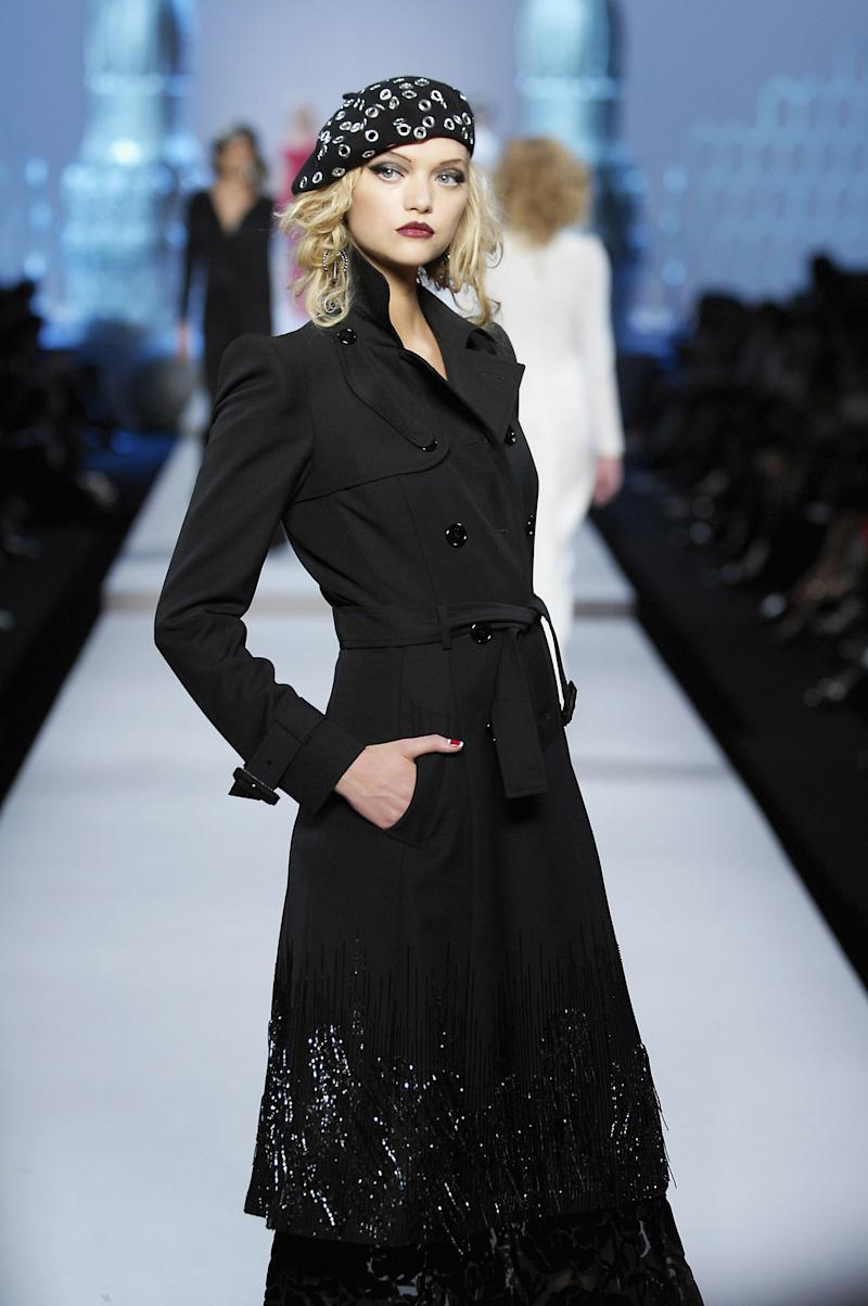 Gemma Ward walking the runway of the spring/summer 2008 Jean-Paul Gaultier show during Paris Fashion Week.
