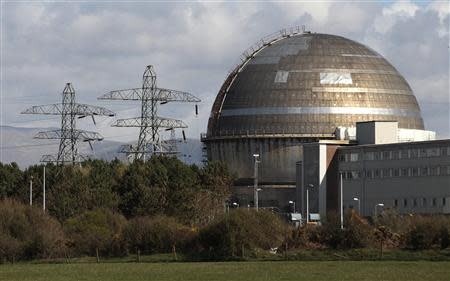 File photograph of the Sellafield nuclear reprocessing site near Seascale in Cumbria, northern England