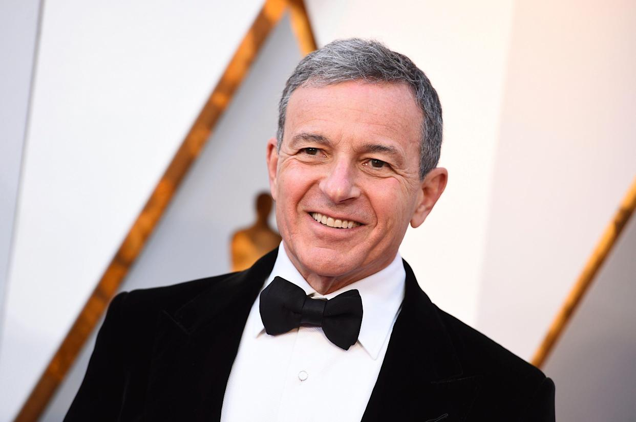 Bob Iger arrives at the Oscars on Sunday, March 4, 2018, at the Dolby Theatre in Los Angeles. (Photo by Jordan Strauss/Invision/AP)