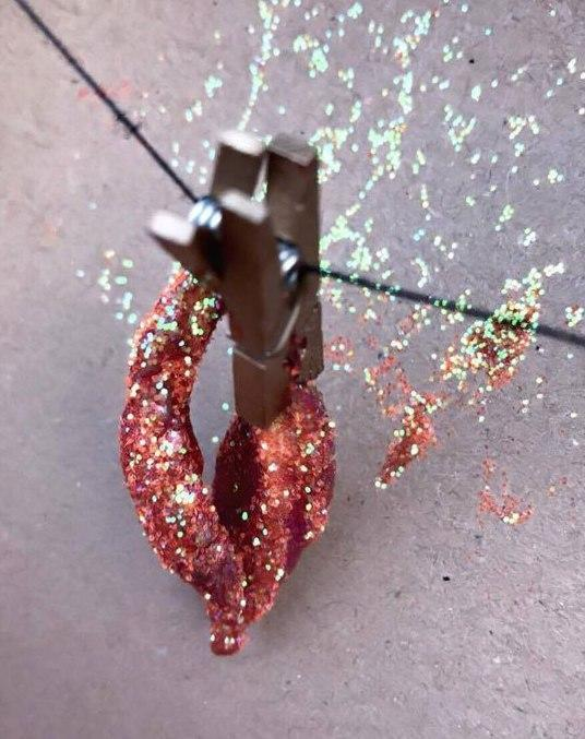 Tracy covered the labia in red glitter [Photo: Tracy Kiss]