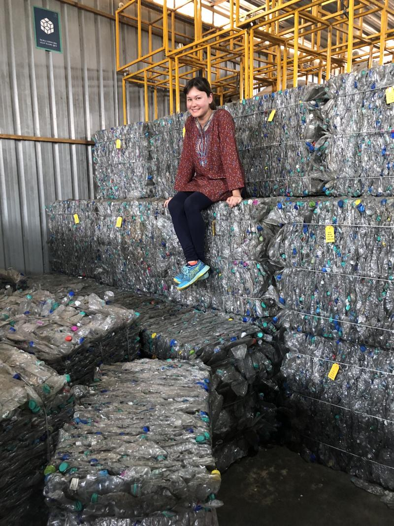 Eunice Olsen at an aggregation center in India. (PHOTO: The Body Shop)
